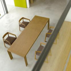 Surface, table en bois à rallonges, Pedrali noyer 188x90cm
