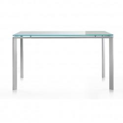 Logico, table rectangulaire, Pedrali, plateau en verre dépoli 80x90cm