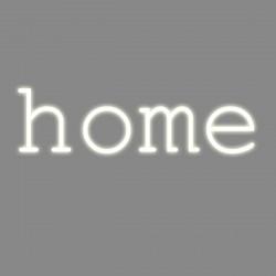 Home, mot néon, Seletti blanc