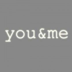 You & me, phrase néon, Seletti blanc