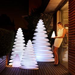 Sapin lumineux Chrismy, Vondom blanc Hauteur 150 cm