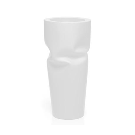 Pot design froissé Saving, Plust blanc