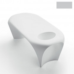 Table basse design Lily avec bac à glace, MyYour gris acier