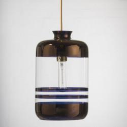 Suspension à rayures métalliques, Ebb & Flow transparent, rayures cuivre