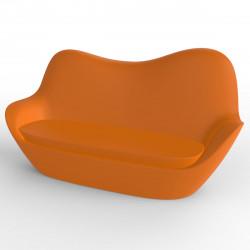 Sofa Sabinas, Vondom orange, coussins Silvertex orange