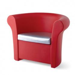 Fauteuil Kalla, Slide Design rouge Mat