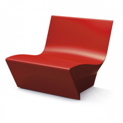 Fauteuil modulable Kami Ichi, Slide Design rouge Mat