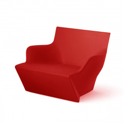 Fauteuil modulable Kami San, Slide Design rouge Mat