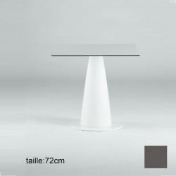 Table carrée Hoplà, Slide gris 79x79xH72 cm