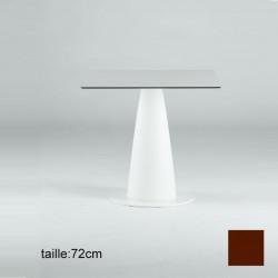 Table carrée Hoplà, Slide chocolat 79x79xH72 cm