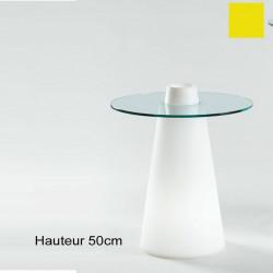 Table Peak 50, Slide Design jaune D70xH50 cm