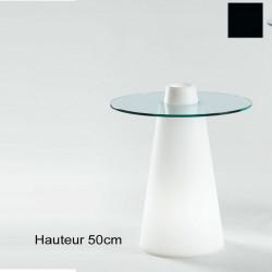 Table Peak 50, Slide Design noir D80xH50 cm