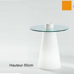 Table Peak 50, Slide Design orange D80xH50 cm
