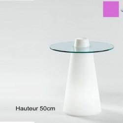 Table Peak 50, Slide Design magenta D80xH50 cm