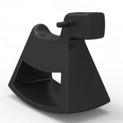 Chaise à bascule Rosinante, Vondom noir Petit modèle