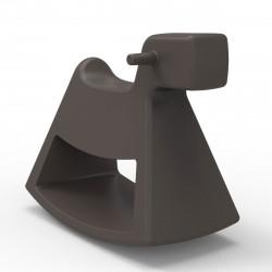 Chaise à bascule Rosinante, Vondom bronze Petit modèle
