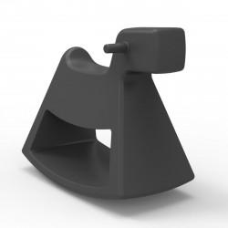 Chaise à bascule Rosinante, Vondom gris anthracite Petit modèle