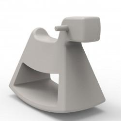 Chaise à bascule Rosinante, Vondom taupe Petit modèle
