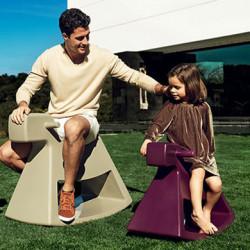 Chaise à bascule Rosinante, Vondom violet Grand modèle