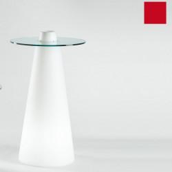 Table de bar Peak, Slide Design rouge D70xH80 cm