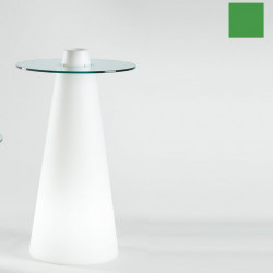 Table de bar Peak, Slide Design vert D80xH80 cm