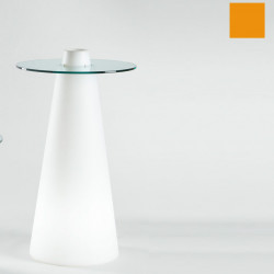 Table de bar Peak, Slide Design orange D80xH120 cm
