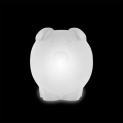 Lampe Peggy, Slide Design blanc Lumineux LED RGB