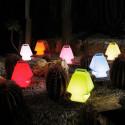 Lampe Prêt à porter, Slide Design bleu Lumineux à ampoule