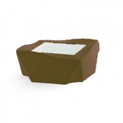 Table basse Kami Ni, Slide Design chocolat Mat