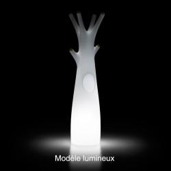 Porte-manteau arbre design Godot, Plust Collection blanc, embouts noirs Lumineux à ampoule
