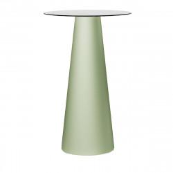 Mange debout design Fura rond, Plust Collection base romarin, plateau blanc diamètre 60 cm