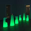 Mange debout design Fura rond, Plust Collection base lumineuse, plateau noir
