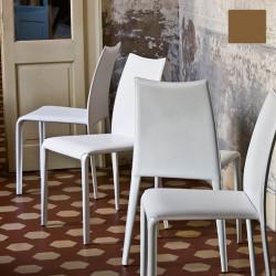 Chaise design Miss, Midj marron