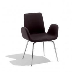 Chaise design Light, Midj noir