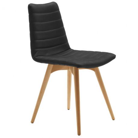 Chaise design Cover, Midj noir pieds bois