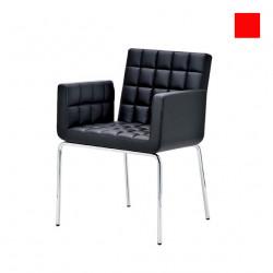 Chaise design Marsiglia, Midj rouge