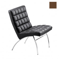Chaise design lounge Marsiglia, Midj marron