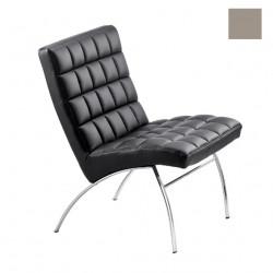 Chaise design lounge Marsiglia, Midj gris clair