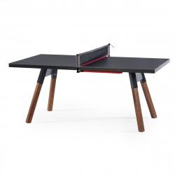 Table à manger ou Table de ping pong You & Me, RS Barcelona noir 220x120 cm