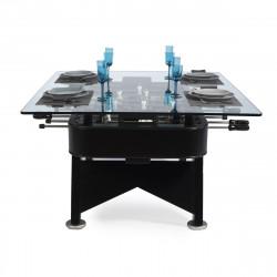 Table à manger baby foot rectangulaire, RS Barcelona noir Hauteur 100 cm