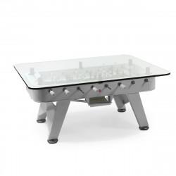 Table à manger baby foot rectangulaire, RS Barcelona argent Hauteur 100 cm