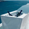 Bar central avec seau à glace Faz, Vondom blanc Laqué