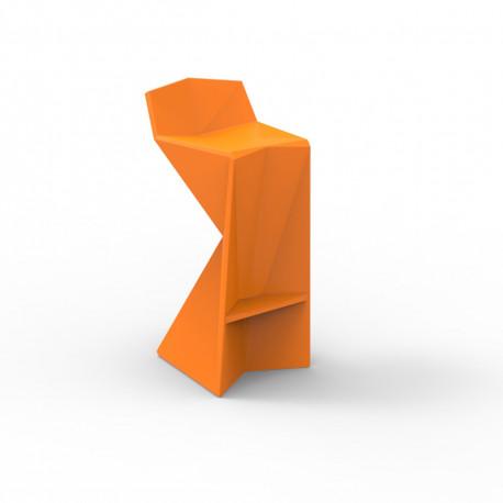 Tabouret design Vertex, Vondom orange Mat