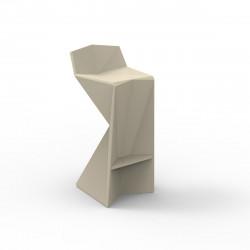Tabouret design Vertex, Vondom ecru Mat