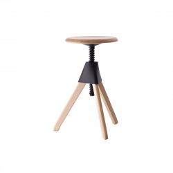 Tabouret Jerry, Magis bois naturel - joint et vis noir Petit modèle