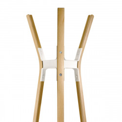 Porte-manteau Steelwood, Magis bois naturel - joint et vis blanc