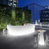 Elément droit Bar design Frozen, Plust blanc Lumineux à ampoule