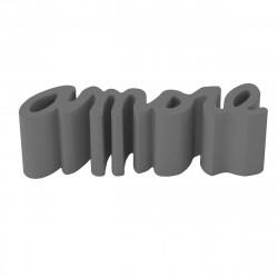 Banc Amore, Slide Design gris éléphant Mat