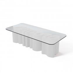 Table basse Amore, Slide Design blanc Mat