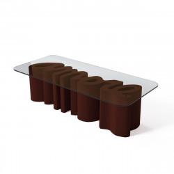 Table basse Amore, Slide Design chocolat Mat